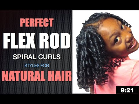 How To Use Flex Rods On Natural Curly Hair Kids Hairstyles Youtube