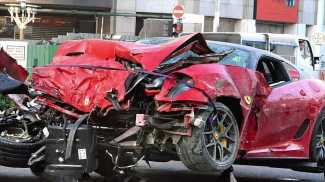 Car Crash Death Ferrari 599 Gto Vs Taxi In Singapore