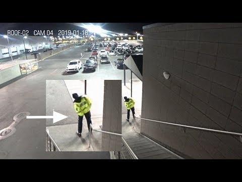 Security Camera Footage - Security Guard Fail