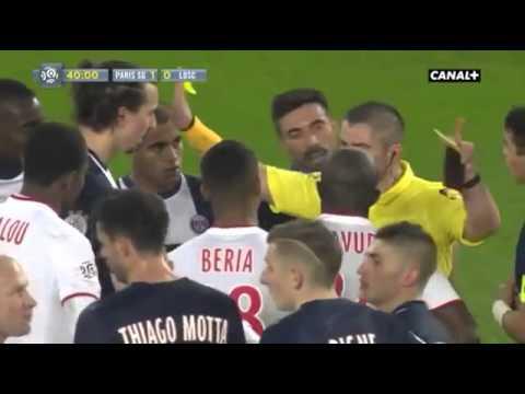 Zlatan Ibrahimovic vs Rio Mavuba PSG vs LOSC