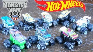 Hot Wheels Muddy Monster Jam Trucks Series 2 Surprise Bags Grave Digger Max D Mystery Pack Toys