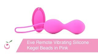 Eve Remote Vibrating Silicone Kegel Beads in Pink
