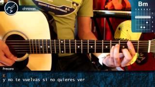 """Cómo tocar """"Que Lloro"""" de Sin Bandera en Guitarra Acústica COMPLETO (HD) - Christianvib"""