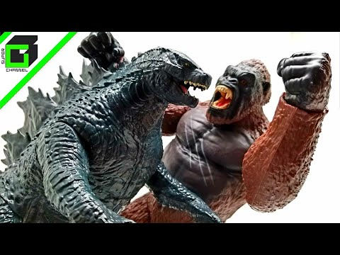 Unboxing KONG Skull Island PLAYMATES action figure!!! GODZILLA vs KING KONG!!!