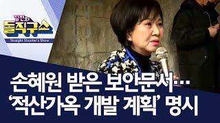 손혜원 받은 보안문서…'적산가옥 개발 계획' 명시 | 김진의 돌직구쇼