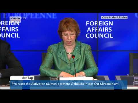 Ukraine-Krise: EU-Außenbeauftragte Catherine Ashton am 14.04.2014 II