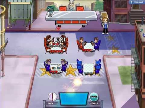 Diner Dash 5: BOOM! - Avenue Flo Level 1 ~ 4