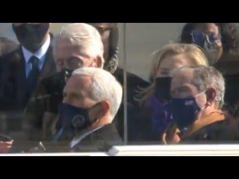 Bill-Clinton-appears-to-fall-asleep-during-Bidens-speech