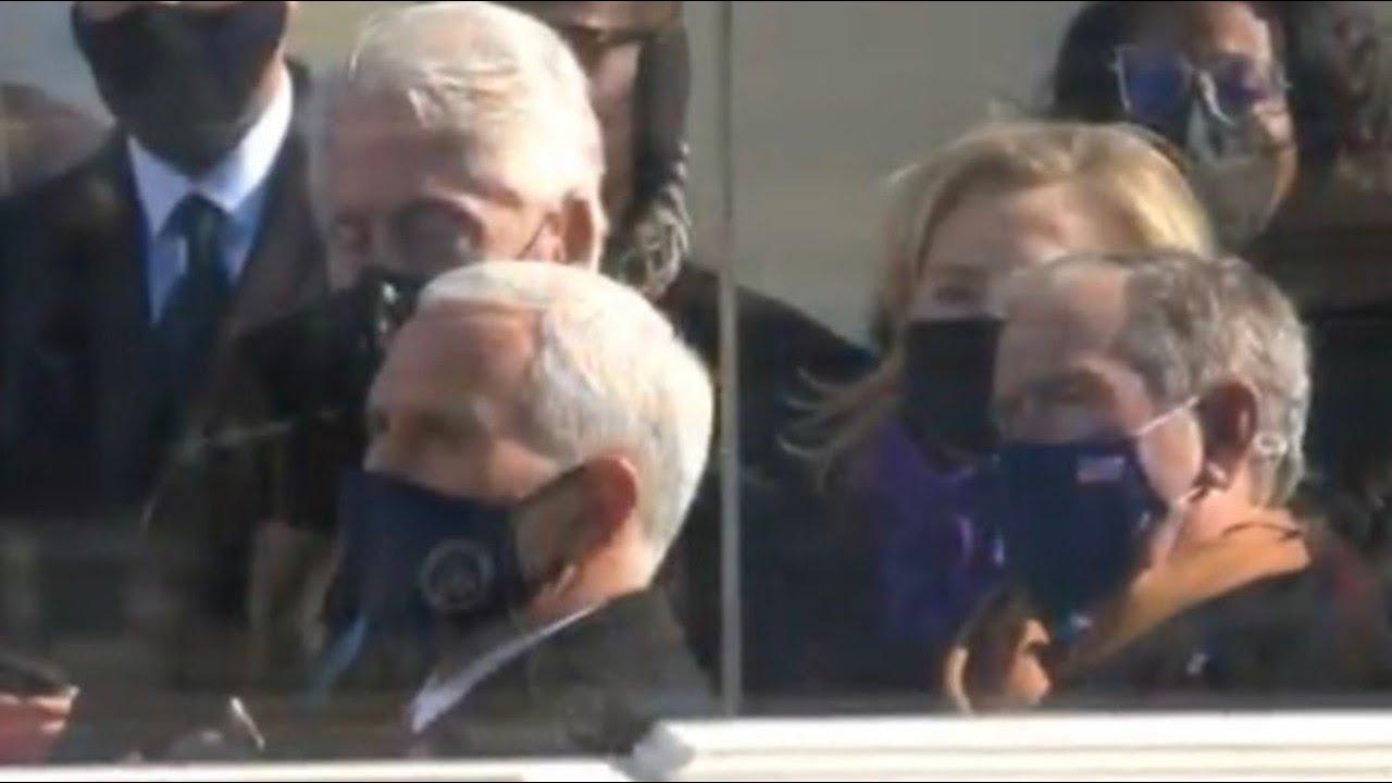 Was Bill Clinton sleeping during the Biden Inaguration?