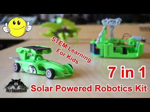 7 in 1 Rechargeable Solar Powered Cars Kit Provides Children STEM Learning