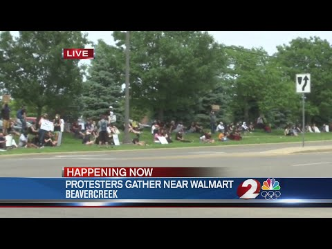 Protesters Gather Near Walmart In Beavercreek
