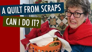 😬CAN I USE UP ALL MY SCRAPS? EPIC AFTERQUILT CHALLENGE