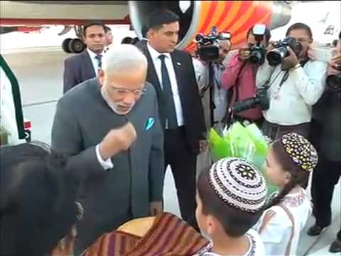 11 July , 2015 - Indian PM Modi arrives in Turkmenistan