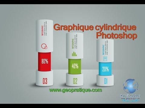 مبيان احترافي أسطواني التصميم الجرافيكي Graphic design infographic cylinder