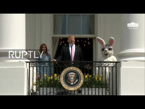 USA: Donald and Melania Trump host White House Easter Egg Roll