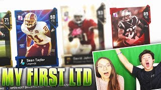 MY FIRST LTD PULL! MY GIRLFRIEND & I PULL THE RAREST CARD! Madden 19 Ultimate Team