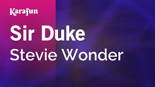 Karaoke Sir Duke - Stevie Wonder *