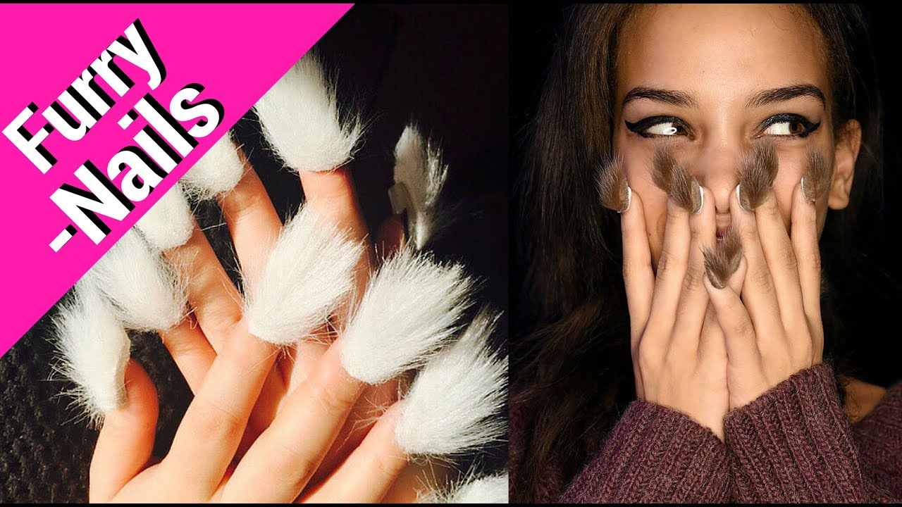 Furry Nails Trend 2016! - YouTube