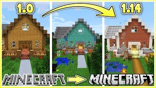 Upgrading my Minecraft House One Version at a Time!