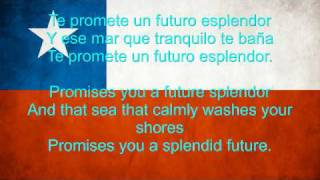 Chile National anthem English lyrics
