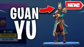 DYNASTY WARRIOR SKIN GUAN YU IN FORTNITE / PLAYING AT THE LAST HOURS OF THIS SEASON #Livestream