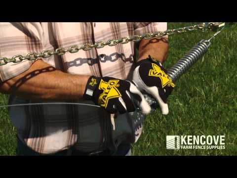How to tension fence wire with a Wire Tightener and a Tension Spring