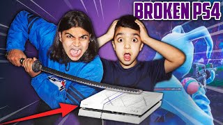 DESTROYING MY 5 YEAR OLD LITTLE BROTHERS PS4! | I BROKE MY BROTHERS PS4 SO HE STOPS PLAYING FORTNITE