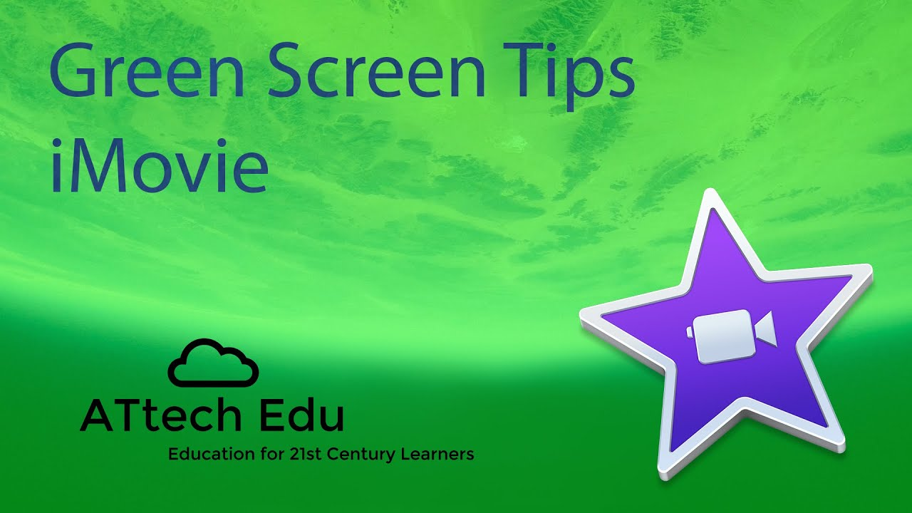 how to move a green screen imovie