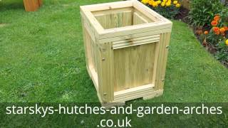 Tall Wooden Planter Decking Patio Garden