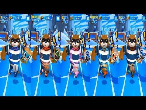 Talking Tom Hero Dash - Teamwork Superpower SUPER Angela VS  SUPER TOM SUPER GINGER SUPER BEN   HANK