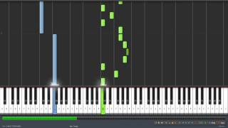 Set Fire To The Rain Piano Tutorial with Synthesia 50%