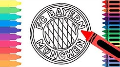 How to Draw FC Bayern München Badge - Drawing the Bayern Logo - Coloring for kids | Tanimated Toys
