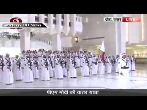 PM Narendra Modi's ceremonial welcome in Qatar   5 June 2016