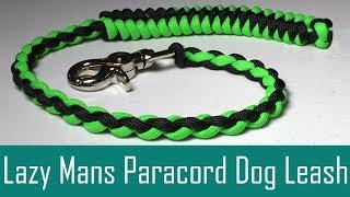 Lazy Mans Paracord Dog Leash - 4 Strand Round Braid