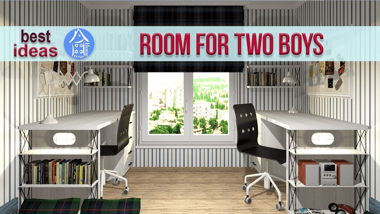 Kids room design for two kids - Creative Shared Bedroom Ideas For A Modern Kids Room For Two Boys