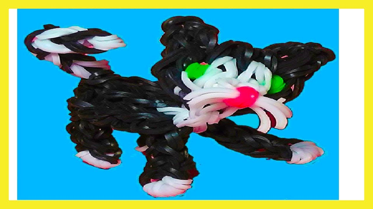 How To Make Loom Bands Animals Easy Cat 3d With Forks