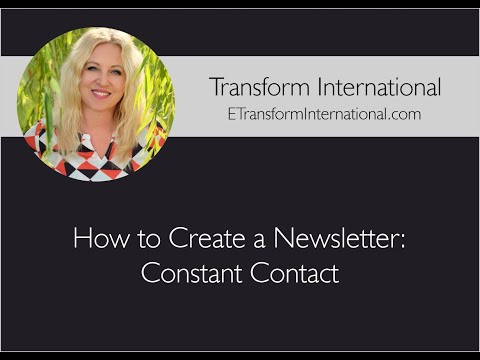 How to Create a Newsletter: Constant Contact