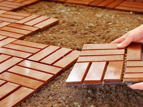Inexpensive Outdoor Diy Flooring Option Youtube
