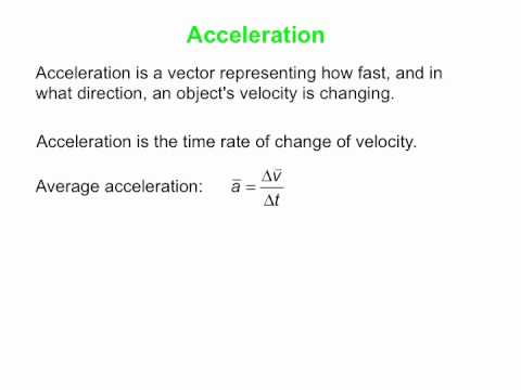 acceleration definition. acceleration - the basic definition