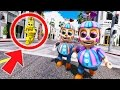 BALLOON BOY & BALLOON GIRL (JJ) RUN AWAY TOGETHER! (GTA 5 Mods For Kids FNAF Funny Moments)