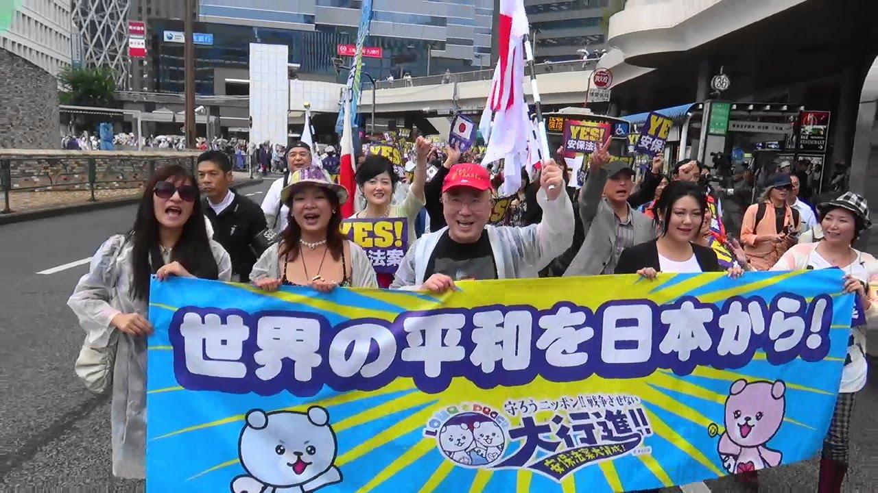 Yes!安保法案」新宿駅西口に響...