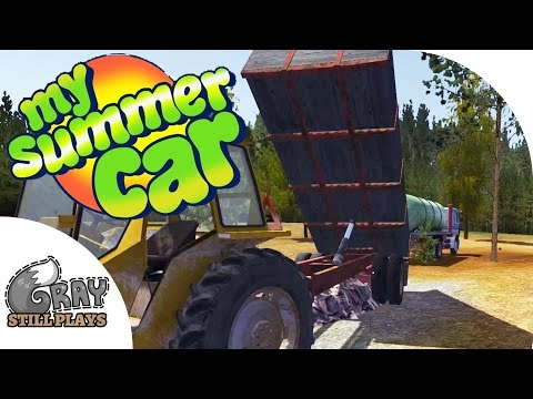 My Summer Car - Engine Building, Wood Hauling Job Money Tips, Ultra Drunk - Gameplay Highlights Ep 6