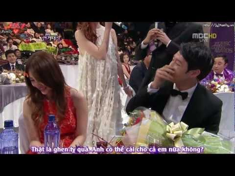 [VIETSUB] [30.12.2012] MBC Drama Awards - Yoochun & Eunhye Best Couple Interview