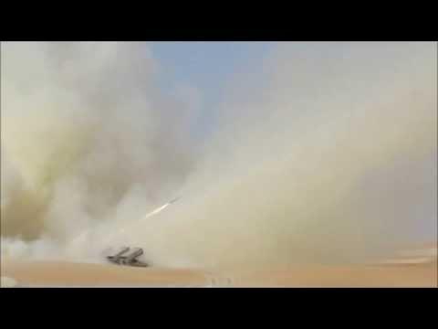 Jobaria MCL Multiple Cradle 122mm rocket launcher system live firing idex 2013 United Arab Emirates