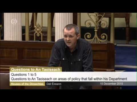 Questioning Taoiseach on justice for Ibrahim Halawa, Cynthia Owen and Chelsea Manning.
