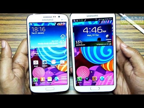 Samsung GALAXY GRAND 2 vs NOTE 2 - Comparison & Review with Benchmarks