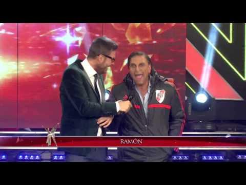 """Showmatch 2014 - """"Ramón Díaz"""" festejó el título de River en Showmatch"""