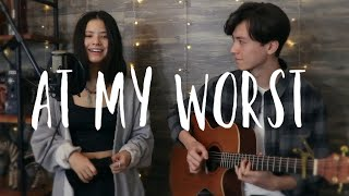 Download lagu At My Worst - Pink Sweat$ - Vocal and acoustic guitar cover Ft. Renee Foy