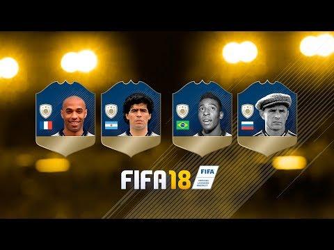 FIFA 18 OFICIAL NUEVOS ICONOS/LEYENDAS! MARADONA, PELÉ, HENRY & YASHIN