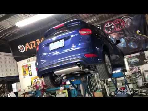 福特 MK3.5 FORD FOCUS 尾段排氣管改裝 THUNDER 雷力超跑尾段單出款鍍鈦尾飾管,福克斯排氣聲浪聲音檔 - YouTube